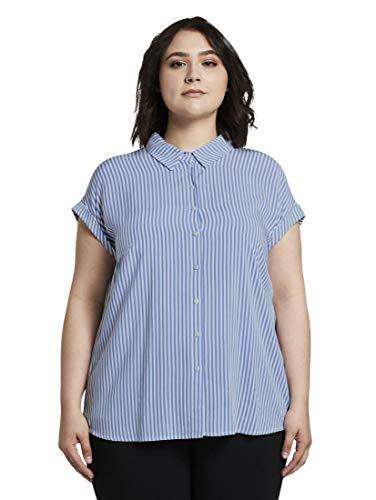 TOM TAILOR MY TRUE ME Damen Blusen, Shirts & Hemden Gestreifte Bluse Stripe Vertical...