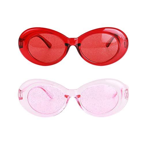 lahomia Paquete de 2 gafas de embrague transparentes retro con marco