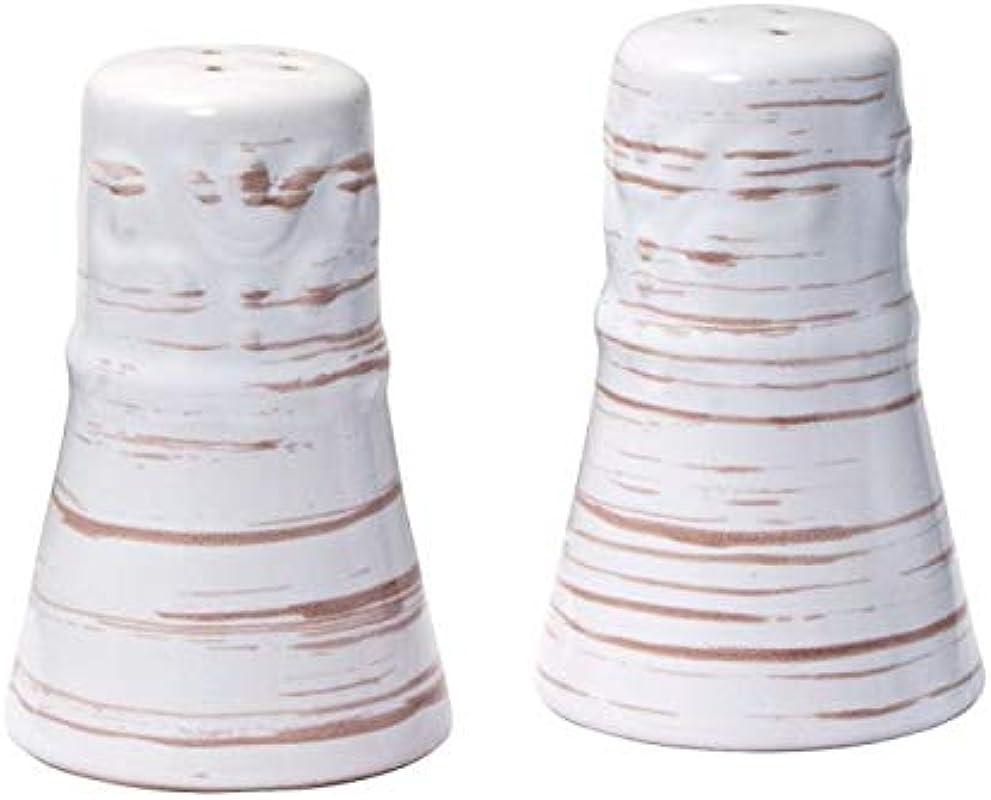 Trellis White Salt And Pepper Set