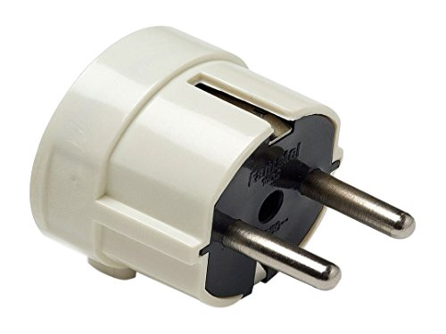 Famatel - Clavija 4,8mm toma tierra lateral 16a-250v blanco (blister)