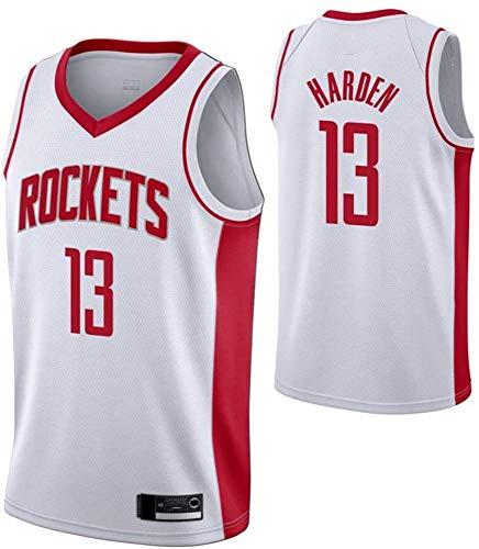 WSUN Maglia da Basket NBA da Uomo, Houston Rockets NBA 13# James Harden Maglia da Basket Maglia da Fan NBA Maglietta Sportiva Senza Maniche Fresca E Leggera,B,M(170~175CM/65~75KG)