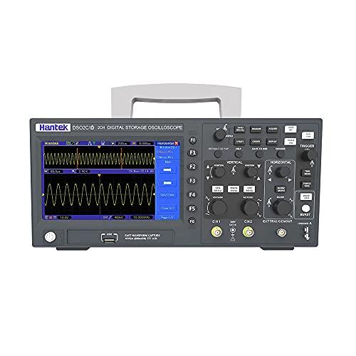 Wosontel Sonda BNC + Osciloscopio digital Hantek DSO2C10 100 MHz ancho de banda osciloscopio de 2 canales mejor osciloscopio 1GSa/s Frecuencia de muestreo