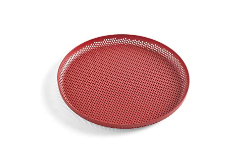 HAY Plateaux perforés, conçus par Lex Pott (rouge, 26,5 cm)