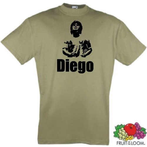 world-of-shirt Herren T-Shirt Diego Maradona Fussballgott Trikot