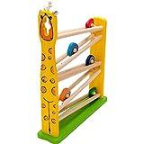木のおもちゃ スロープトイ スライダー キリン スロープ 転がし遊び ギフト 木製玩具 知育玩具 男の子 女の子 お誕生日 プレゼント 出産祝い 節句 御祝 内祝 0歳 1歳 2歳 3歳