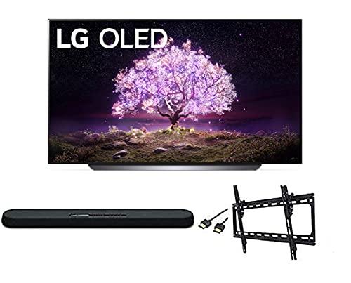 lg 65 inch oled tvs LG OLED65C1PUB C1 65 inch OLED 4K Smart OLED TV w/AI ThinQ Bundle with Yamaha YAS109 Soundbar, Universal Wall Mount, HDMI Cable - LG Authorized Dealer