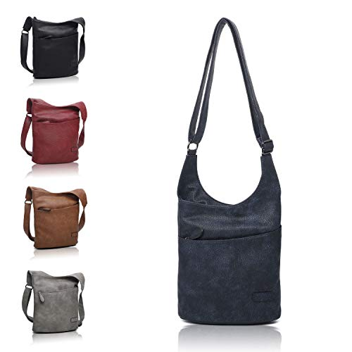 Umhängetasche Blau - Schultertasche - Damenhandtasche - Handtasche - Crossbody - Messenger Bag - Shopper Tasche - premium Tote