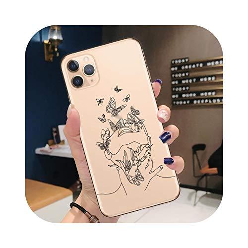 Carcasa para iPhone 12 Mini, diseño abstracto de línea Art para iPhone 12 Mini 11 Pro Max X XR XS 8 7 6 6 S Plus 2020