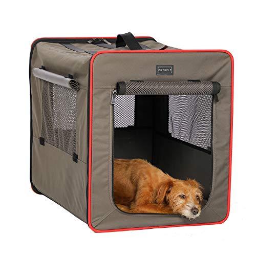 Petsfit faltbar Hundebox Transportbox für Auto & Zuhause Hundetransportbox Katzenbox mit Fleece Matte für große kleine Hunde