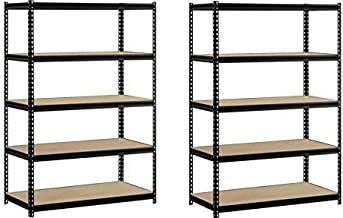EDSAL Heavy Duty Garage Shelf Steel Metal Storage 5 Level Adjustable Shelves Unit 72