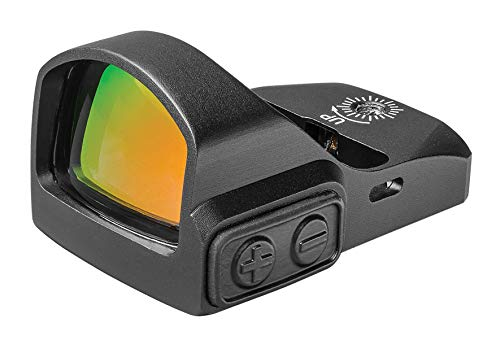TRUGLO TRU-TEC Micro Red Dot Sight Open Reflex Optic for Rifles, Shotguns and Pistols, Green Dot, Picatinny Mount