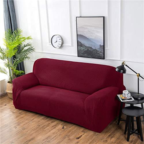 LLKK Funda de sofá Individual,Funda de sofá Gruesa de un Solo Color,Funda de sofá de Cuero,Funda Universal Universal con Todo Incluido