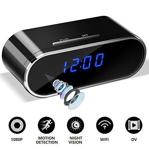 Clock Camera   Hidden Camera Clock   Spy Camera Clock   WiFi 1080P Video Recorder Wireless IP Camera...