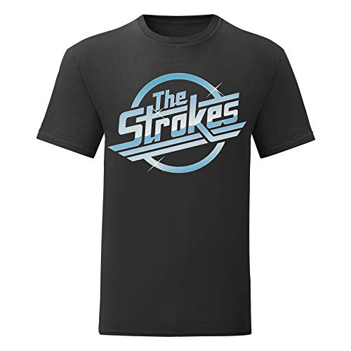 LaMAGLIERIA Camiseta Hombre The Strokes Full Color - Camiseta 100% algodòn, XL, Negro