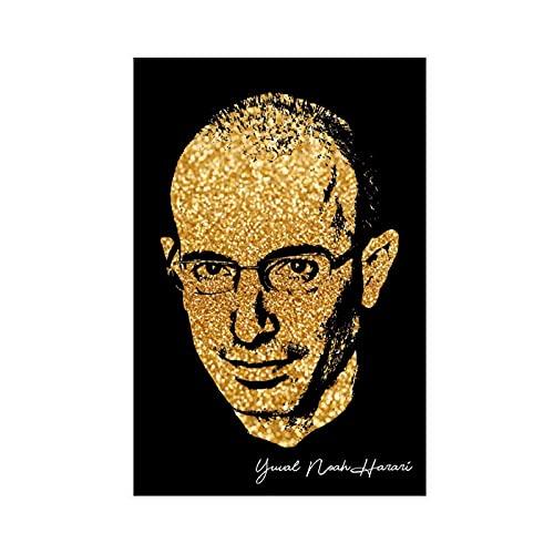 Stampa artistica da parete con immagine di Yuval Noah Harari autografata per poster da soggiorno, 30 x 45 cm