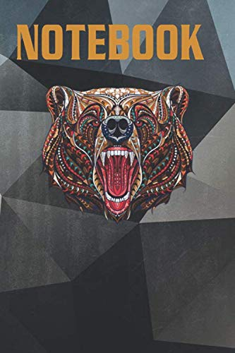 Composition, Journal Notebook: Maverick Infanta Inspirational Grizzly Bear CUAI0089 Size 6'' x 9'', Lined 100 Pages, for notes, drawings, formulas, A Perfect Birthday, A Great alternative