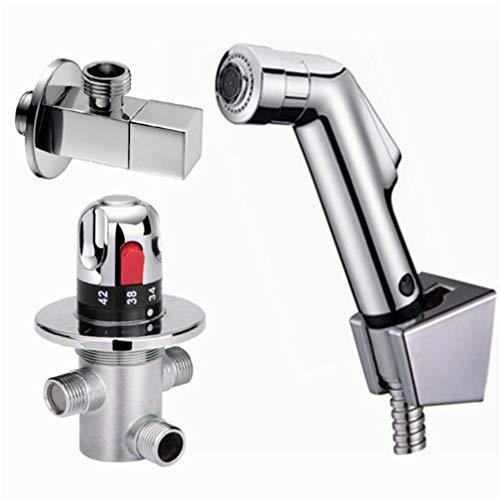 Schwarz Handbidet Spray ABS Dusche-Spr/üher Set WC-Hahn-Dusche Bidet mit Schlauch und Halter Color : Bidet Only