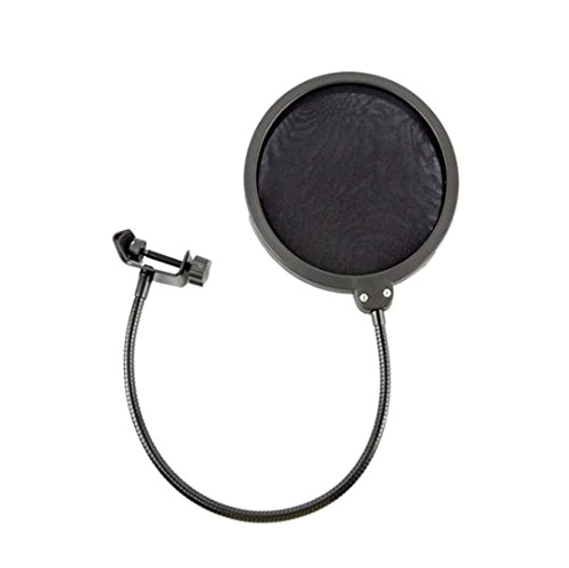 Epixel Double Layers Microphone Wind Screen Pop Filter,Mic Guard Shield For Recording With Flexible Gooseneck Holder& Metal Adjustable Clamp (Black)
