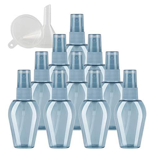 TIANZD 24 Piezas 30 ml Botella de Spray Pequeño Plástico Vacías Azul con Bomba en Spray de Niebla Fina Atomizador para Viaje Artículos de Agua Aseo Líquidos Cosmético