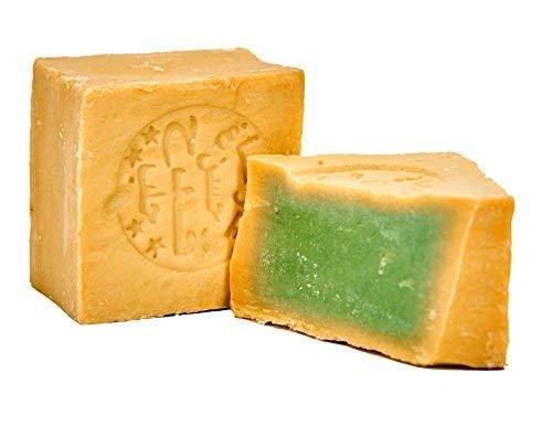 Carenesse Original Aleppo Seife 200 g I Natürliche Seife mit 85% Olivenöl und 15% Lorbeeröl für Haut & Haare I Handmade Duschseife / Haarseife I Vegane Naturseife ohne Chemie & Plastik