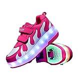 XXD Unisex Niños Zapatillas Casuales,LED con Luces Zapatillas de Deporte Luz USB Transpirable 7 Colores Zapatos para niños Parpadeante USB Carga Sneakers Zapatos Luminiosos1#-38