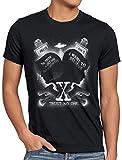 style3 X-Agente Camiseta para Hombre T-Shirt FBI Alien UFO, Talla:3XL, Color:Negro