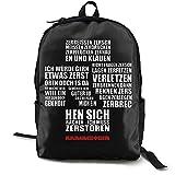 Ram_Mstein Punk Classic - Mochila escolar con bolsa de poliéster, unisex, color negro
