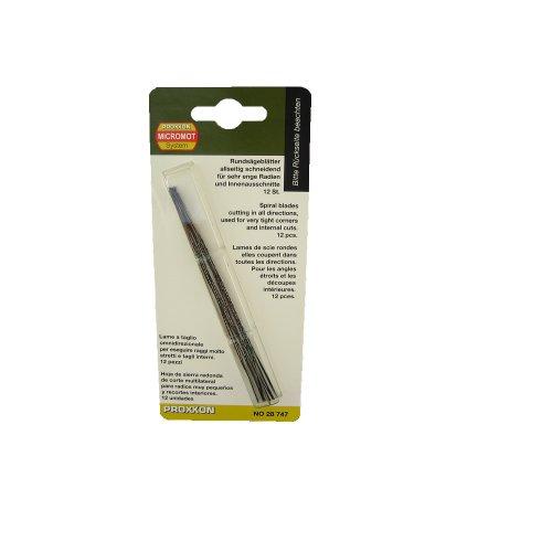 Proxxon 28747 Rundsägeblatt, 130 mm. Mit flachen Enden (ohne Querstift), 12 Stück