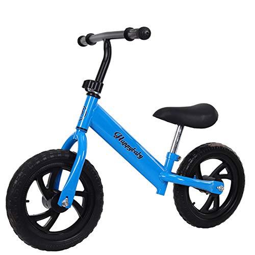 QqHAO Kinder Fußlose Balancen-Fahrrad, Baby-Wanderer-Spielzeug-Auto ist geeignet für Jungen und Mädchen 1-7 Jahre alt (Rot, Blau, Weiß, Schwarz),Blau