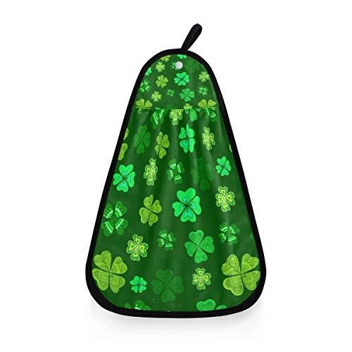Serviette de Bain hautement absorbante Gant de Toilette Lucky Leaf Trèfle Vert Gant de Toilette Ultra Doux Polyvalent