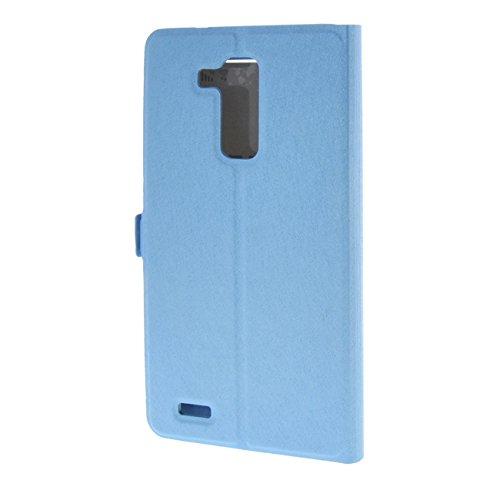 MOONCASE Etui für Huawei Ascend Mate7 Leder Tasche Schutzhülle Hülle Schale Hülle Cover Blau