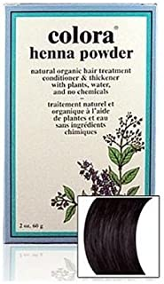 Natural Henna Hair Coloring Powder, Black; 2oz
