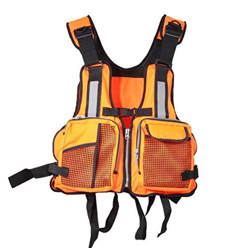 Chalecos salvavidas para adultos, Chaleco salvavidas de natación para adultos Chaleco de flotación de canoa de kayak ajustable Chaleco reflectante marino de pesca de vela, ayuda de flotabilidad