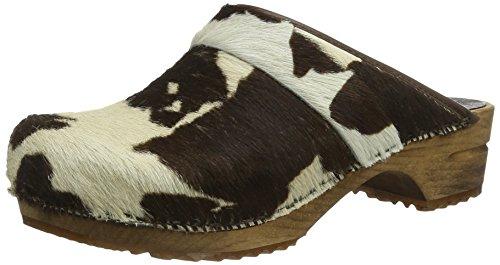 Sanita Herren Casper open Clogs, Mehrfarbig (Brown Cow 3), 45