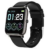 LIEBIG Smart Watch, Smartwatch Orologio Fitness Tracker Uomo Donna GPS Cardiofrequenzimetro da Polso Saturimetro Bluetooth Orologio Sportivo Impermeabile IP67 Calorie Pedometro (Nero)