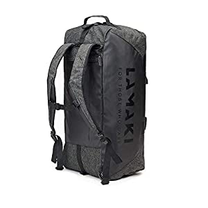 41nHq227PLL. SS300  - lamaki Holdall Duffel Bag Mochila Black Edition Bolso de Viaje Gimnasio Deporte Oficina Multiuso Diseño Industrial Ampliable Compartimento Calzado Plegable Unisex Hombre Mujer 50L