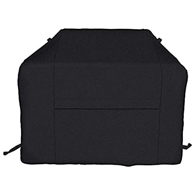 iCOVER BBQ Grill Cover-65 Inch UV Fade Resistant Heavy-Duty Water Proof Patio Outdoor Barbecue Gas Grill Smoker Cover 600D Canvas Cover for Weber Char-Broil Brinkmann Holland JennAir Nexgrill,Black