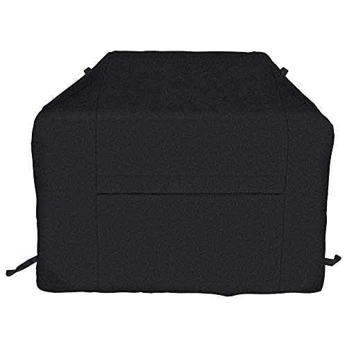 iCOVER BBQ Grill Cover-70 Inch UV Fade Resistant Heavy-Duty Water Proof Patio Outdoor Barbecue Gas Grill Smoker Cover 600D Canvas Cover for Weber Char-Broil Brinkmann Holland JennAir Nexgrill,Black