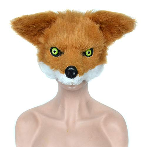 RBH Halloween Fox Halbe Gesichtsmaske, Masquerade Party Requisiten, Advanced Faux Fur - Fit, Kinder im Halloween Rollenspiel, Christmas Party Drink Bar