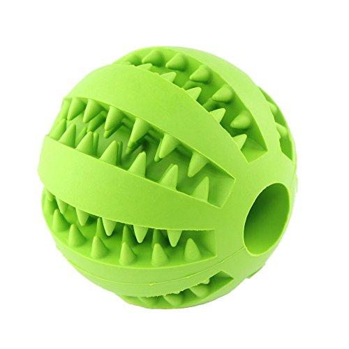 Hund Spielzeug, ungiftig bissfest Gummi Spielzeug B?lle, Chew Training Zahn Reinigungskugel (gr¨¹n)