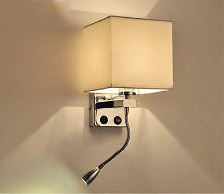 Moderne einfache LED mit Kristallwand-Lampen-Schalter-Schlafzimmer-Lampe Nachttischlampe kreative amerikanische Studie Wohnzimmer Balkon Treppenleuchten