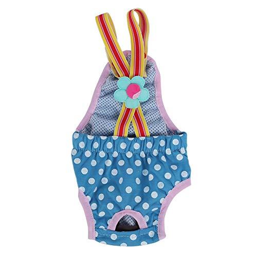 GLOGLOW 6 Maten Vrouwelijke Hond Luier, Wasbare Hond Sanitaire Broek Stijlvolle Fysiologische Menstrual Nappy Suspender Ondergoed (XL Blauw)