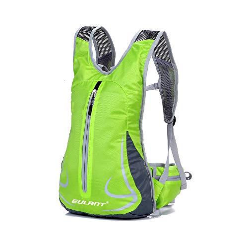 Freien Rucksäcke Unisex 14L Ultraleicht Fahrrad Reise Wander Sportrucksack, Wasserdicht Reiserucksack für Laufen Skifahren Camping Trekking Bergsteigen Radfahren Schultertaschen (Grün)