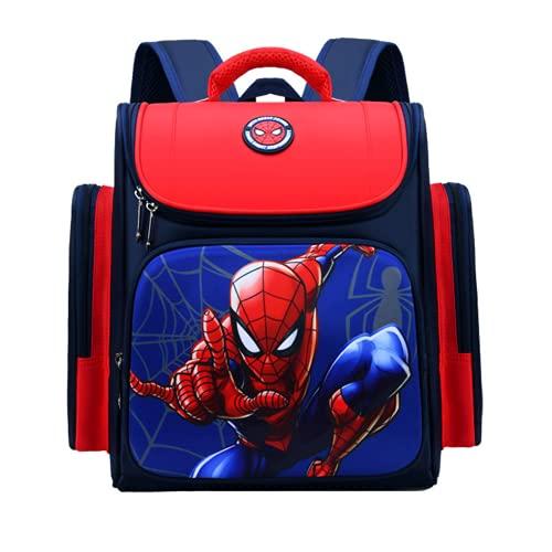 Mochila escolar de Spiderman y Capitán América, resistente al agua y duradera, con un bonito diseño, A1., 30 x 16 x 37 cm(L*W * H),