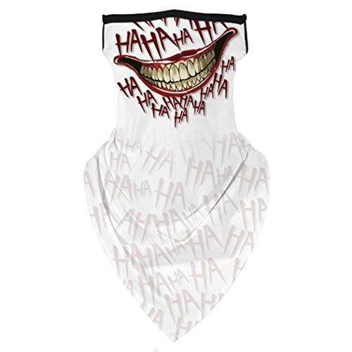 FORLADY Multifunktionstuch Bandanas Stirnband Gaiter Winddicht Motorrad Maske Schal Sturmhauben Mit Ohrschlaufen Elastische Damen Herren Für Yoga Laufen Radfahren(b25)
