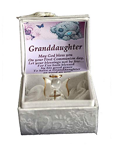 Enkelin Erstkommunion Geschenk Schutzengel Gedicht Box Christian Geschenk