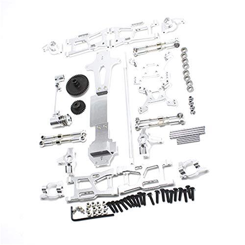 Dcolor für WLtoys 1:14 144001 RC Auto Voll Upgrade Ersatz Teile Metall C Sitz Lenk Becher Schwinge Zentral Antriebswelle, Silber