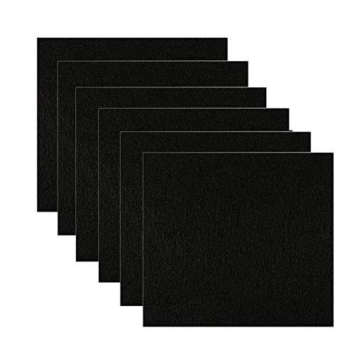 Feelava - 6 filtri di ricambio per lettiera per gatti a forma quadrata, filtri al carbonio per lettiere per gatti chiuse o a cassetto, filtri di ricambio