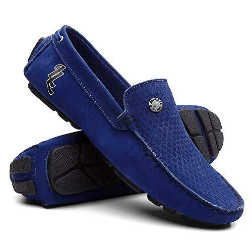 Mocassim Masculino Sapato Para Dirigir - Azul - 43