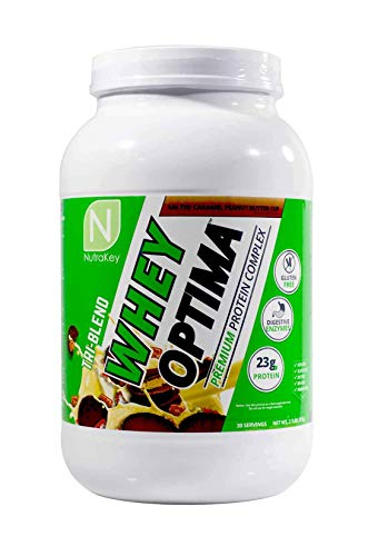 NutraKey Whey Optima Protein Powder, Salted Caramel Peanut Butter Cup, 2.1 Pound